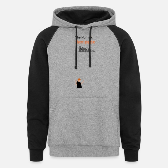 Trapped Hoodies & Sweatshirts - Hands Up - Unisex Colorblock Hoodie heather gray/black