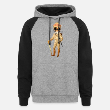 The GAME WARDEN Hipster Tiger - Unisex Colorblock Hoodie