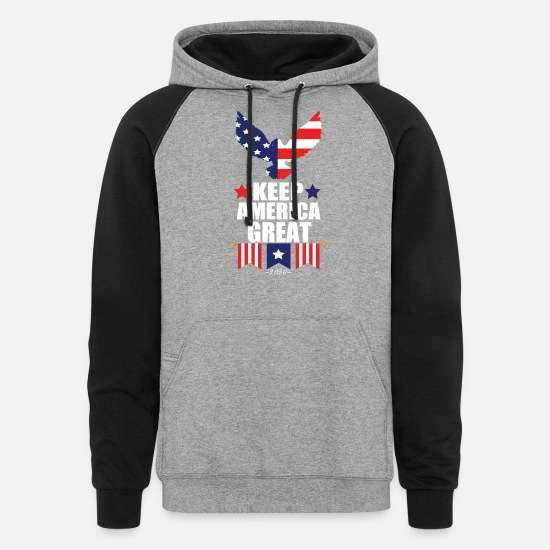 Election Hoodies & Sweatshirts - Keep America Great 2020 US Presidental Election - Unisex Colorblock Hoodie heather gray/black