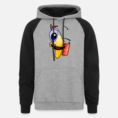 Winking Smiley Face - Unisex Colorblock Hoodie