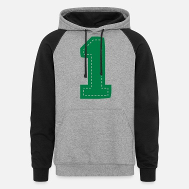 Mother Number One Patch - Unisex Colorblock Hoodie
