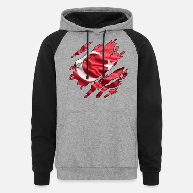 Inside Turkish Flag Inside - Unisex Colorblock Hoodie