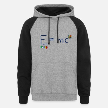 Cube Rubik's Cube Formula Theory Of Relativity - Unisex Colorblock Hoodie