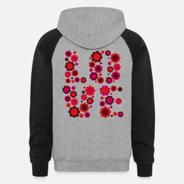 Blossoming Love by Cheerful Madness!! - Unisex Colorblock Hoodie