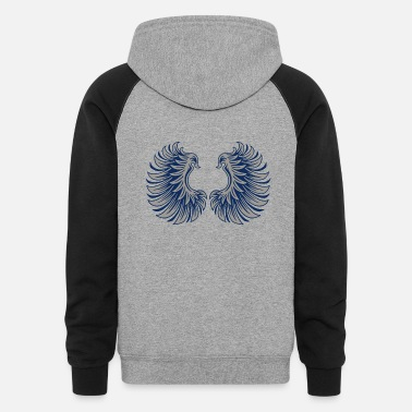 Angel's Wings Wings - Unisex Colorblock Hoodie
