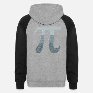 Pi Happy Pi Day Numbers Math Teacher Student March 14 - Unisex Colorblock Hoodie