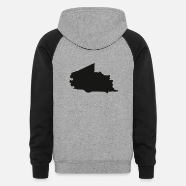 Silhouette Plano Texas city map black illustration silhouette - Unisex Colorblock Hoodie
