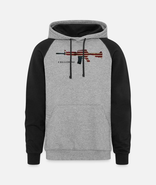 Freedom Of Expression Hoodies & Sweatshirts - Freedom - Unisex Colorblock Hoodie heather gray/black