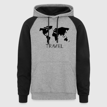 Shop world map hoodies sweatshirts online spreadshirt travel colorblock hoodie gumiabroncs Choice Image