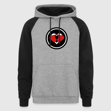 Two Hearts - Colorblock Hoodie