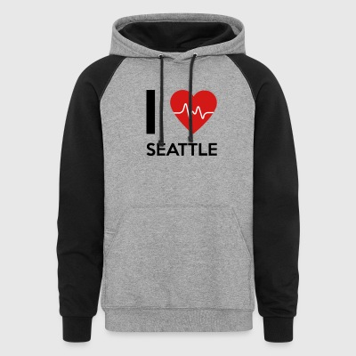 I Love Seattle - Colorblock Hoodie