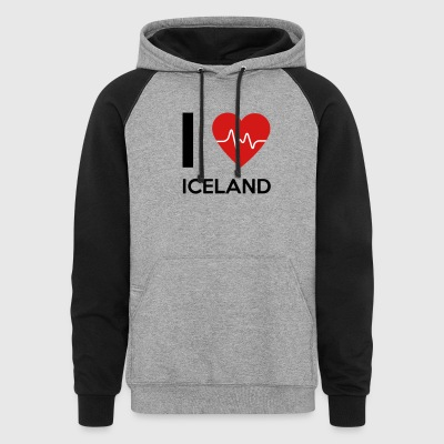 I Love Iceland - Colorblock Hoodie
