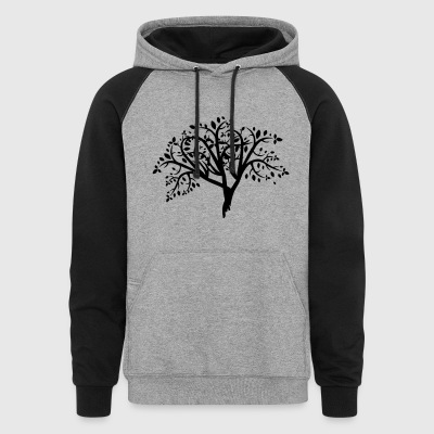 Tree Illustration - Colorblock Hoodie