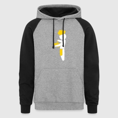 A Gourmet Chef Cooks In The Kitchen - Colorblock Hoodie