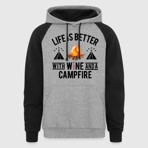 Wine And Campfire - Colorblock Hoodie