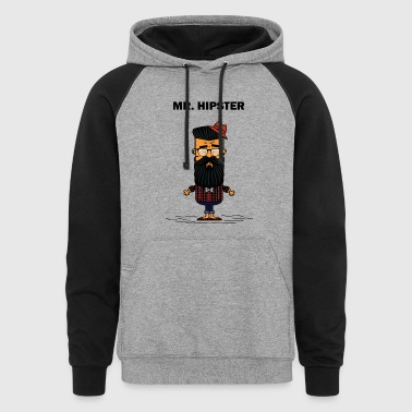 Mister Hipster - Colorblock Hoodie