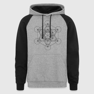 Metatron's Cube Sacred Geometry - Colorblock Hoodie