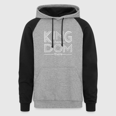 Kingdom here until Kingdom there - Colorblock Hoodie