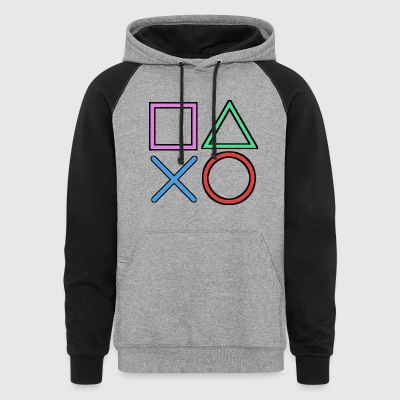 Gamer Buttons - Colorblock Hoodie