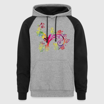 Colorful birds China Style - Colorblock Hoodie