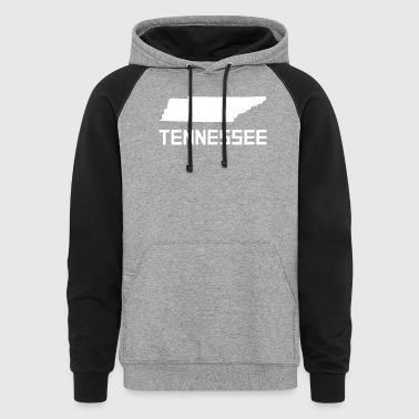 Tennessee State Silhouette - Colorblock Hoodie