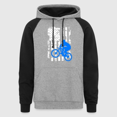 Mountain Bike Flag Shirts - Colorblock Hoodie