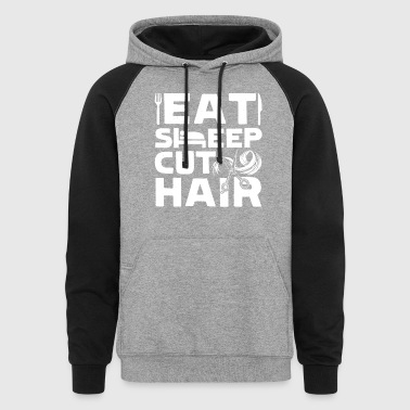 FUNNY HAIR STYLIST SHIRT - Colorblock Hoodie