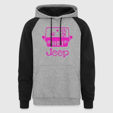JEEP DOG t-shirts - Colorblock Hoodie