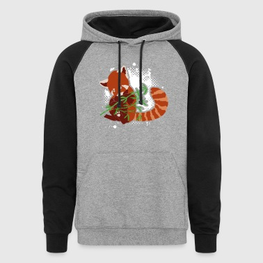 RED PANDA BABY BLANKET SHIRT - Colorblock Hoodie