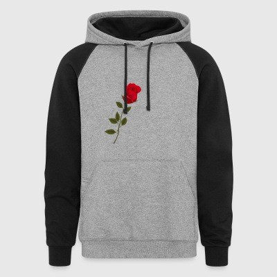 Single Rose 4 - Colorblock Hoodie