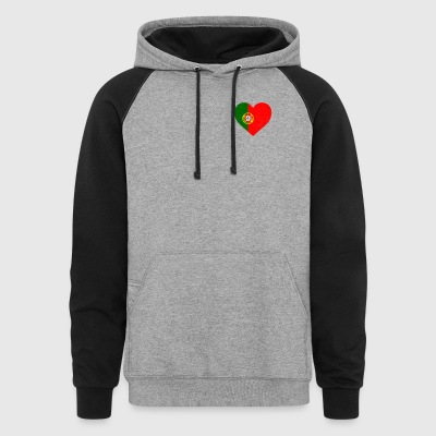 Portugal Flag Shirt Heart - Portuguese Shirt - Colorblock Hoodie