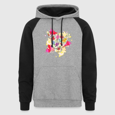 Floral Sign Language Shirt - Colorblock Hoodie