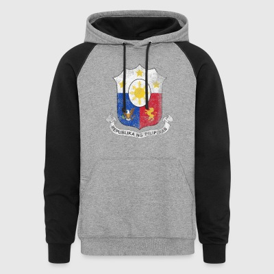 Filipino Coat of Arms Philippines Symbol - Colorblock Hoodie