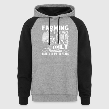 Farming It's In My DNA Shirt - Colorblock Hoodie