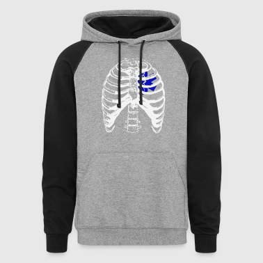 EMT Heart in Ribcage Shirt - Colorblock Hoodie