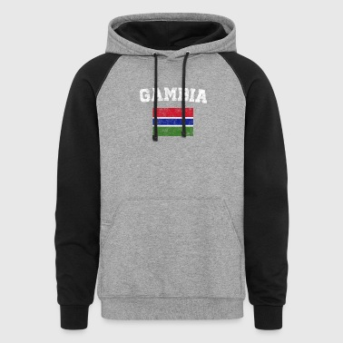 Gambian Flag Shirt - Vintage Gambia T-Shirt - Colorblock Hoodie