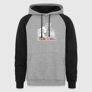Breakdance Shirt - Breakdance Funny Shirts - Colorblock Hoodie