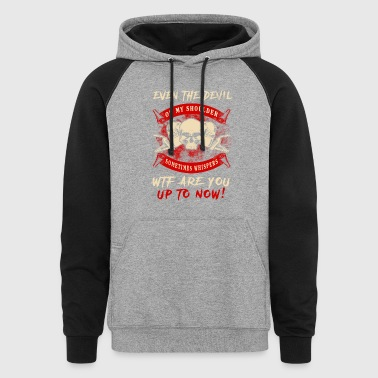 Even The Devil Welder T-Shirts - Colorblock Hoodie