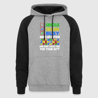 Autism Mom Shirt - Colorblock Hoodie
