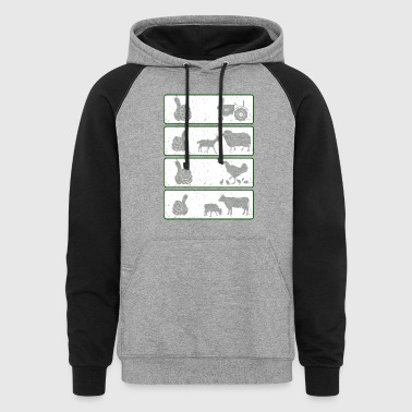 Farmer animal T Shirts - Colorblock Hoodie