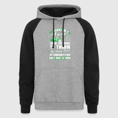 Leave me alone Farmer T Shirts - Colorblock Hoodie
