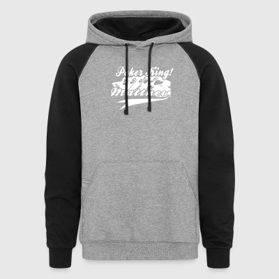 Personalised Poker King - Colorblock Hoodie