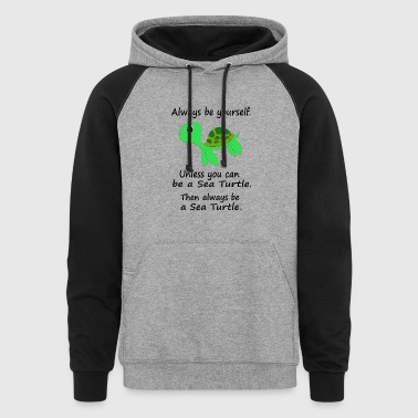 Sea Turtle Mug - Colorblock Hoodie