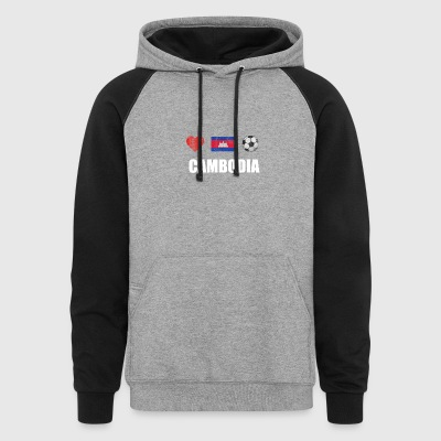 Cambodia Football Shirt - Cambodia Soccer Jersey - Colorblock Hoodie