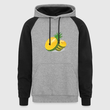 Pineapple Illustration - Colorblock Hoodie