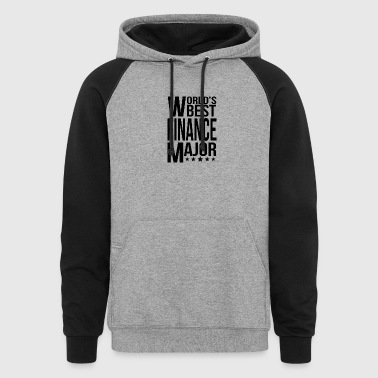 World's Best Finance Major - Colorblock Hoodie