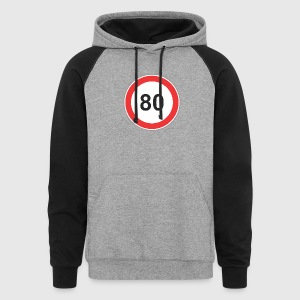 Road_sign_80 - Colorblock Hoodie