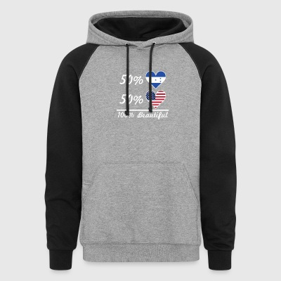 50% Honduran 50% American 100% Beautiful - Colorblock Hoodie