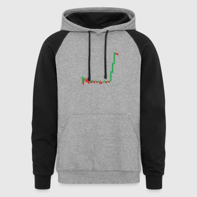 Short Squeeze Bar Graph. - Colorblock Hoodie