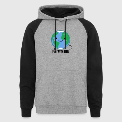 I'm with her Mother Earth Day - Colorblock Hoodie